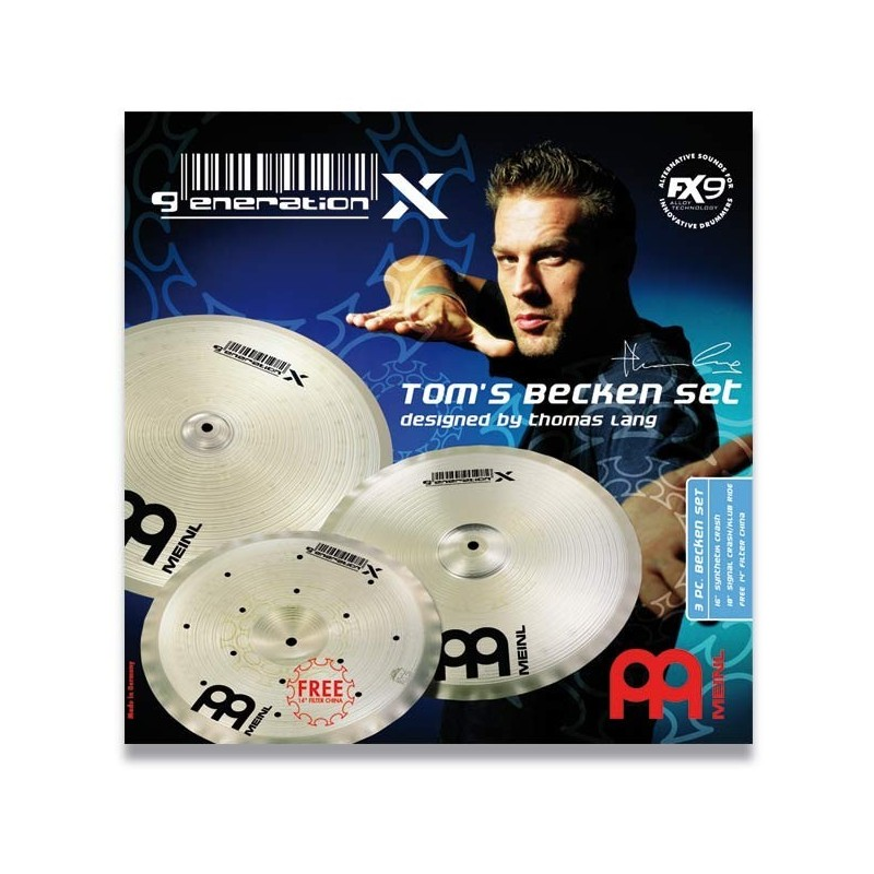 Set Meinl Generation X Tom´s Becken 14 16 18