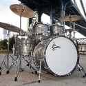 Bateria Gretsch Brooklyn USA 4 cuerpos Smoke-Grey-Oyster