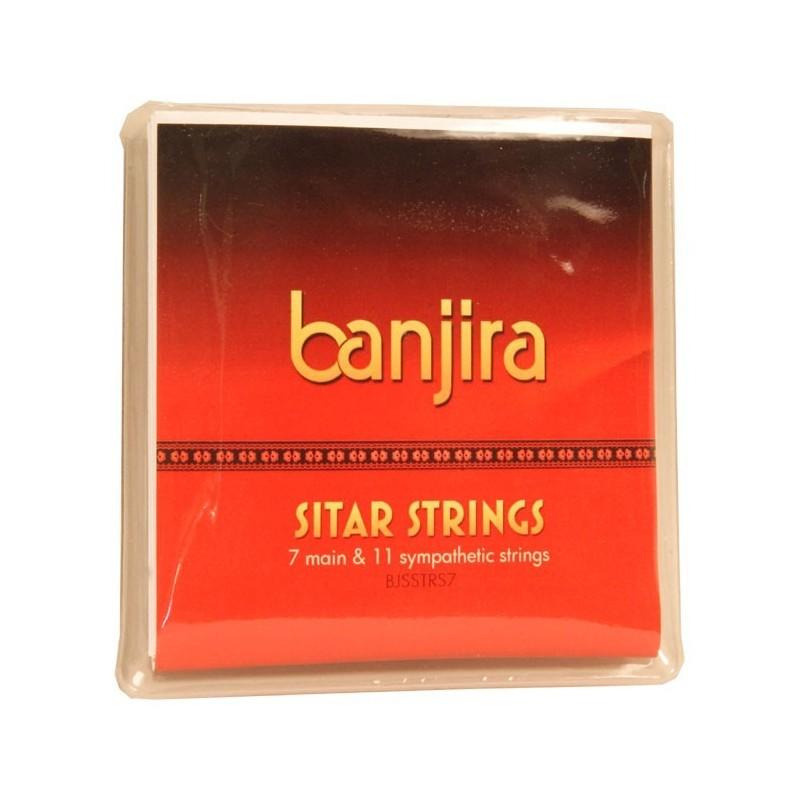 Cuerdas de Sitar Banjira String Set, Std, 7, Light