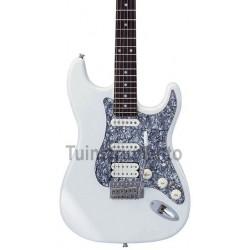 Guitarra Aria STG 004 DX blanca cerca