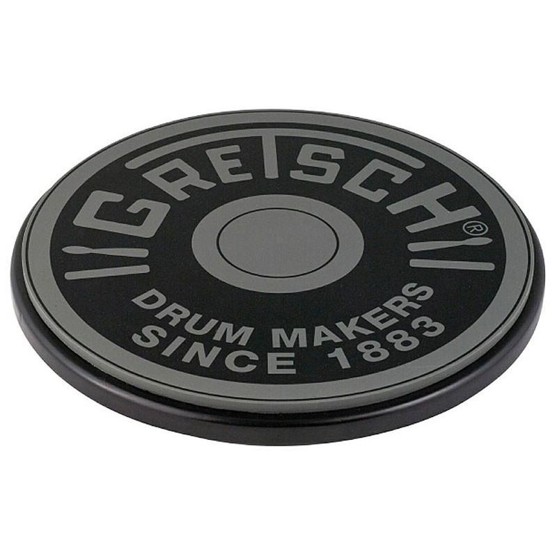 """Pad de Practica Gretsch 12"""" Logo Round Badge Gris"""