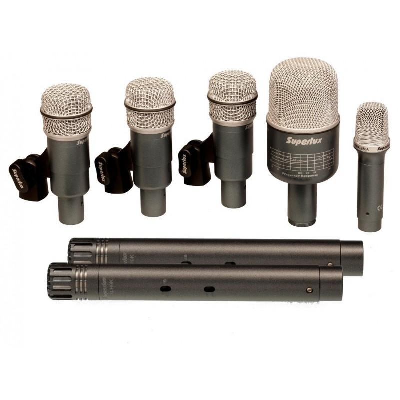 Set 7 Microfonos p Bateria Profesional ok