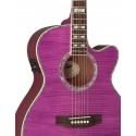 Guitarra Electroacustica ESP Tapa Flameada Magenta