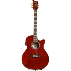 Guitarra Electroacustica ESP Tapa Quilted Maple