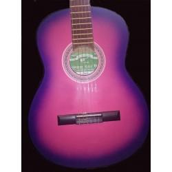 Guitarra clásica Breyer de estudio c funda rosa