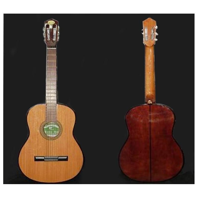 Guitarra clásica Breyer tapa de pino abeto natural, con funda