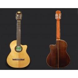 Guitarra electroacustica Breyer Media caja pino abeto, nogal, cedr, alpaca