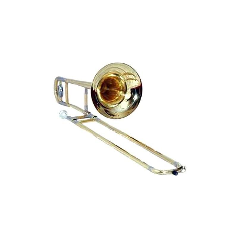 Trombon a vara en Bb tenor, con llave transpositora, con estuche de cuero