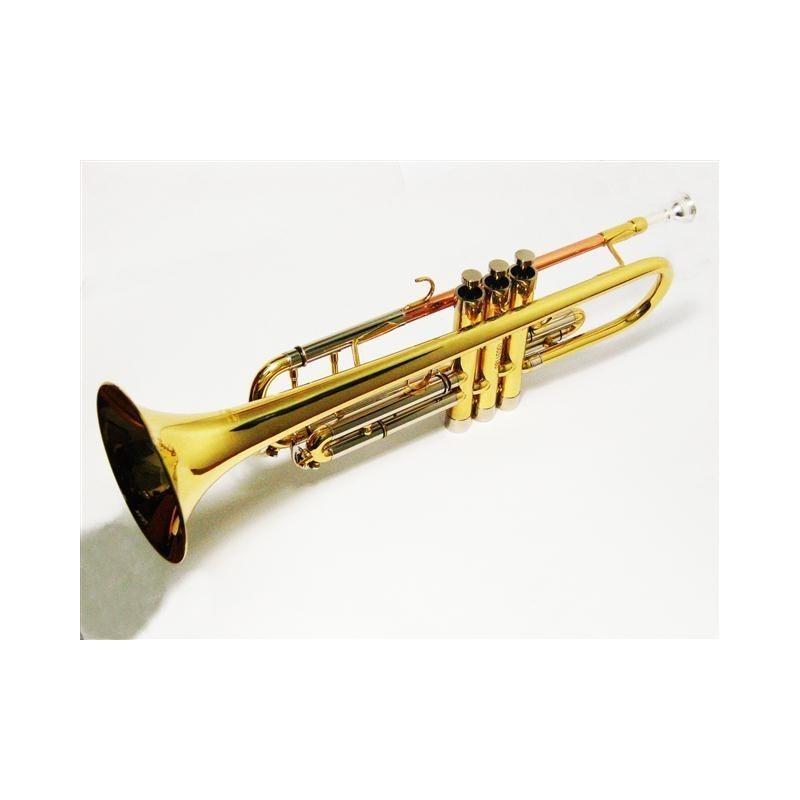 Trompeta Bb new piston Style con estuche de cuero