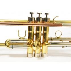 Trompeta Bb new piston Style con estuche de cuero3