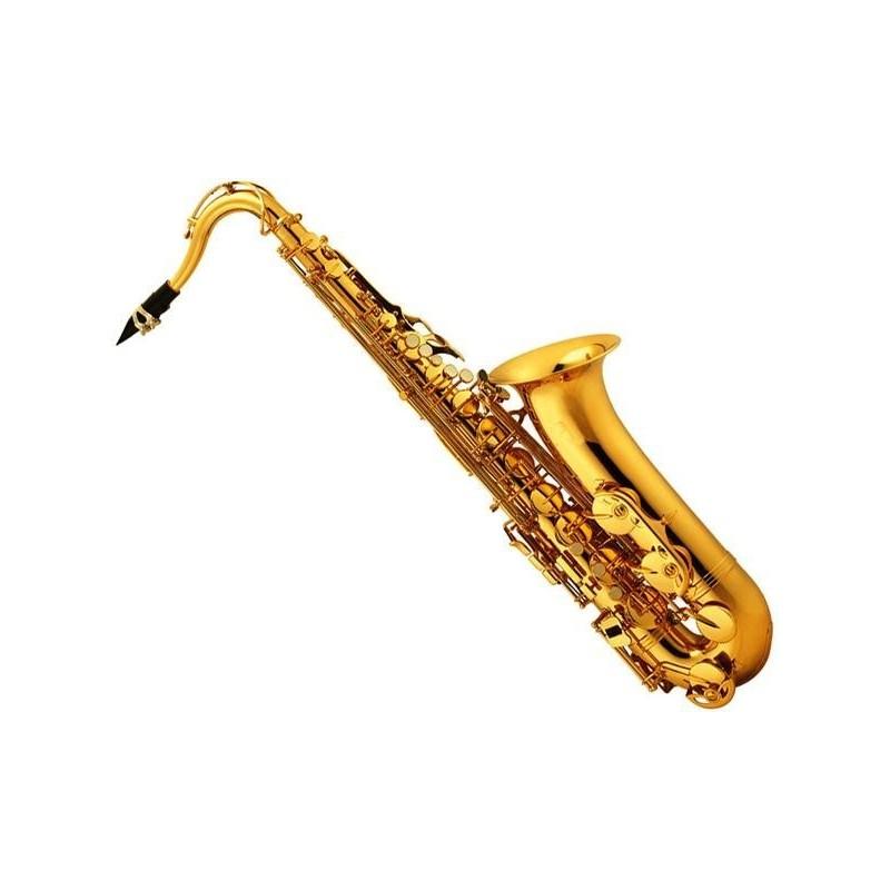 Saxo tenor dorado c estuche cuero