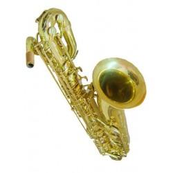 Saxo Baritono Eb dorado con estuche de cuero