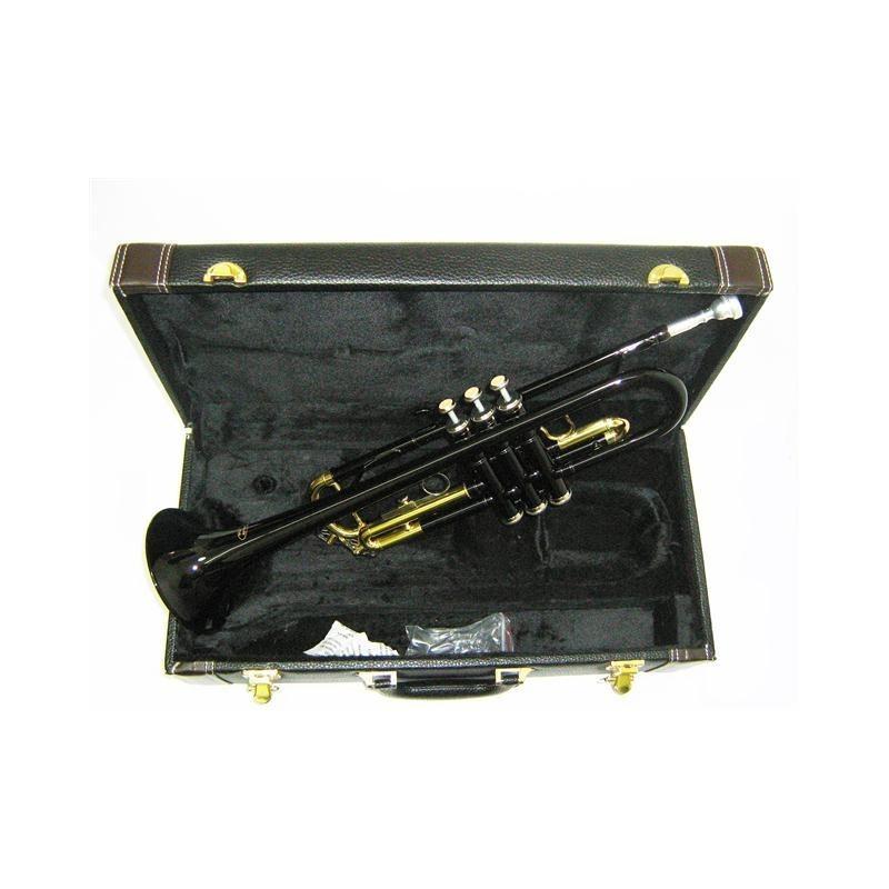 Trompeta Bb colores con estuche de cuero