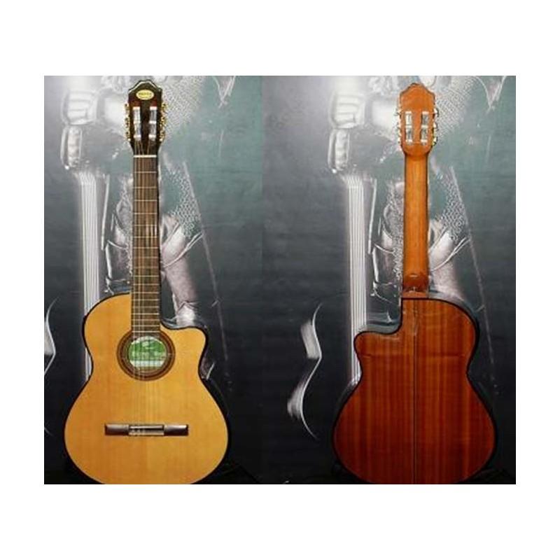 Guitarra electroacustica Breyer con corte y ecualizador