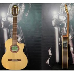 Guitarra electroacustica Breyer Media caja, ecualizador, Afinador 4 bandas