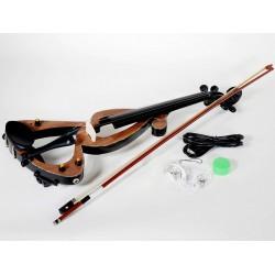 Violin Electrico Sojing 4/4 Silent C/ Arco Funda Simil madera