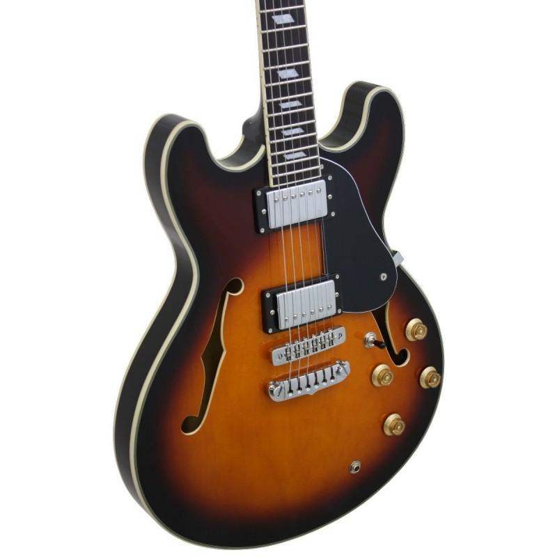 Guitarra Aria Jazz semi-acustica 1