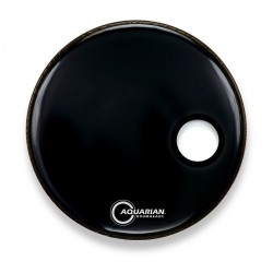 "Parche 22"" Negro Capa Simple Frontal Con Agujero 4 3/4"""